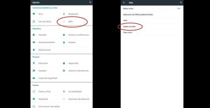 cómo activar la itinerancia de datos en Android
