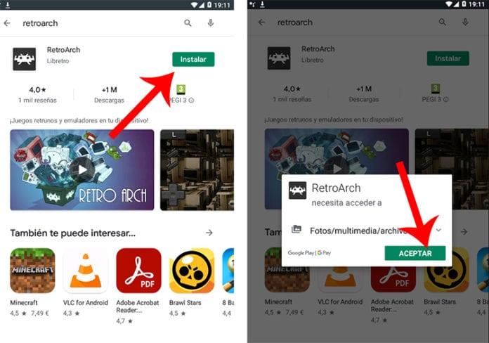 descargar retroarch en Android