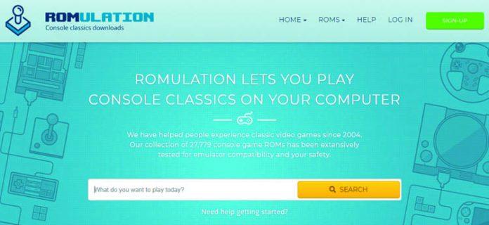 web romulation para descargar roms para Android
